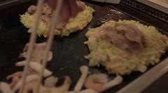 Mixing Okonomiyaki Ingredients 2, Japan Stock Footage