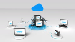 Access Cloud computing service animation Stock Footage