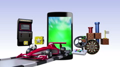 Game contents for Smart phone,mobile devices, Entertainment contents Stock Footage