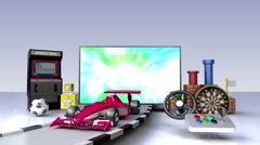 Game contents for Smart TV,Wide TV, Entertainment contents. Stock Footage