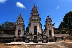 Hindu temple at Pura Sahab, Nusa Penida, Bali, Indonesia Stock Photos