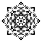 Handdrawn pattern, star shape - stock illustration