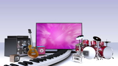 Music contents for Smart TV,Wide TV , Entertainment contents. Stock Footage