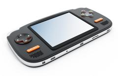 Retro handheld video game device Stock Illustration