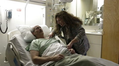 Patient In Hospital Stock Footage