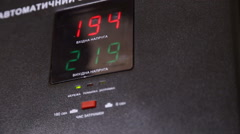 the numbers on the electricity regulator - stock footage