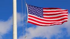 American Flag in Wind - stock footage