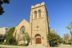 All Saints Episcopal Church at the morning - stock photo