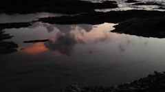 Sunrise at Tanjung Jara Rocky Beach Terengganu Malaysia Stock Footage