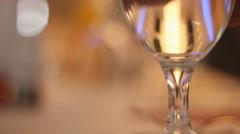 Luxury glass in restaurant  Stock Footage