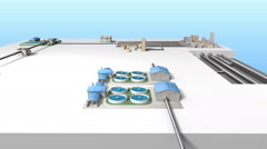 Process Control Water Purification system on Ground. White version - stock footage