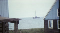 Sailing boats and Dutch harbor - 8mm Vintage Footage - stock footage