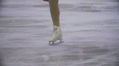 Ice figure skating slomotion Stock Footage