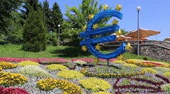 exhibit euro - stock footage
