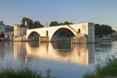 Bridge St. Benezet over Rhone River, UNESCO World Heritage Site, Avignon, Stock Photos