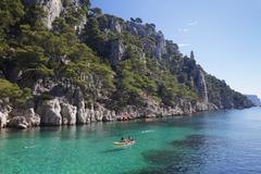 Les Calanques d'en Vau, National Park, Cassis, Provence, Provence-Alpes-Cote Stock Photos
