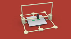 3d printer animation 3d printing object Stock Footage