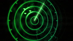 Incoming targets on radar screen - stock footage