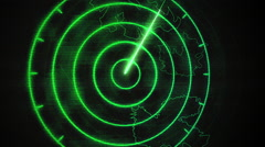 Blank radar signal green aviation Stock Footage