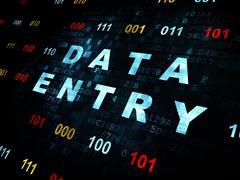 Stock Illustration of Information concept: Data Entry on Digital background