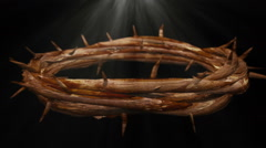 Jesus thorns loop looping crown of thorns - stock footage