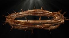 Jesus thorns loop looping crown of thorns Stock Footage