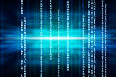 Binary blue computer code Stock Illustration