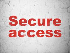 Protection concept: Secure Access on wall background - stock illustration