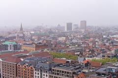 Aerial view of Antwerp, Belgium - stock photo