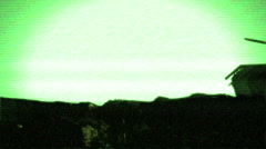 Tank in nightvision infrared military Stock Footage