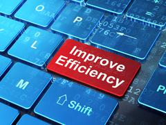 Stock Illustration of Business concept: Improve Efficiency on computer keyboard background