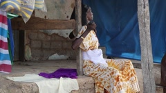africa woman in market place - stock footage