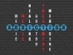 Health concept: Addiction in Crossword Puzzle - stock illustration