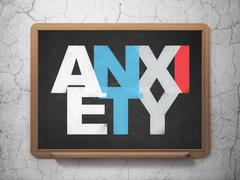 Stock Illustration of Health concept: Anxiety on School Board background