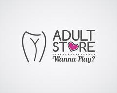 Adult store logo design. Cute Sex shop badge template. Sexy label. Vector xxx - stock illustration