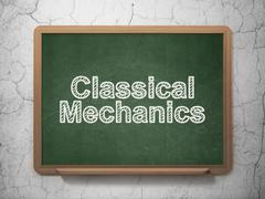 Stock Illustration of Science concept: Classical Mechanics on chalkboard background