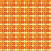 Seamless geometric pattern. Patchwork texture in warm, bright, orange  colors Stock Illustration