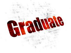 Education concept: Graduate on Digital background - stock illustration