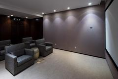 Interior of modern home theatre Stock Photos