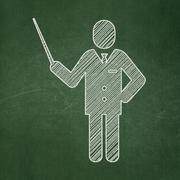 Stock Illustration of Studying concept: Teacher on chalkboard background