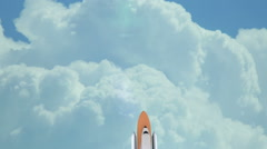 Space shuttle launchign into space Stock Footage