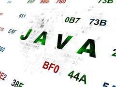 Programming concept: Java on Digital background - stock illustration