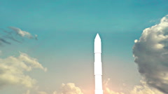 ICBM missle launch into air Stock Footage
