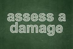 Stock Illustration of Insurance concept: Assess A Damage on chalkboard background