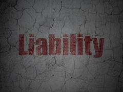 Insurance concept: Liability on grunge wall background Stock Illustration