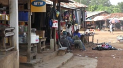 Africa market place Stock Footage