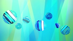 Abstract bluetone background with cool circles Stock Footage