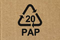 Recycling code 20 PAP - stock photo