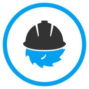 Circular Blade Safety Icon - stock illustration