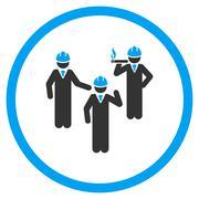 Engineer Discussion Icon - stock illustration